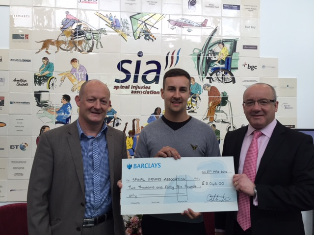 Tollers Present A Cheque To Their Chosen Charity