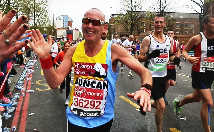 Duncan Nicholson Runs The London Marathon