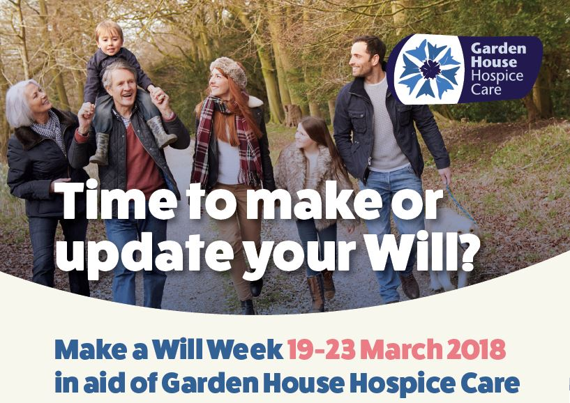 Make A Will Week For Garden House Hospice