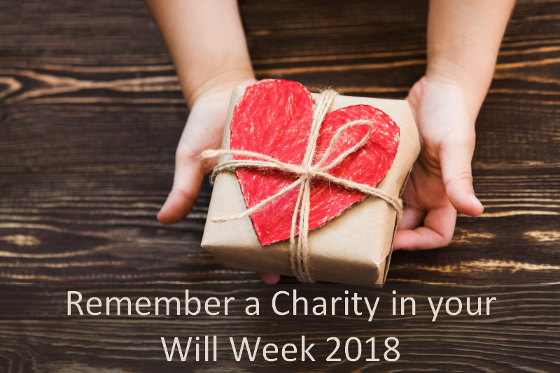 Remember A Charity In Your Will Week 2018