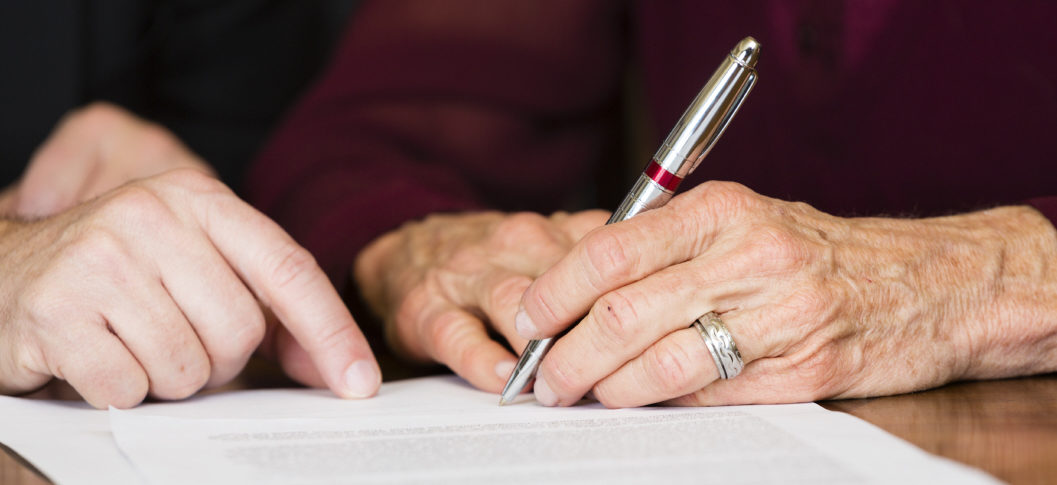 Elderly lady making a will